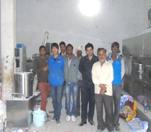 印度膨化大米设备安装